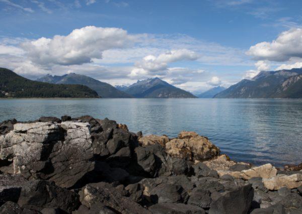 a beach at Portage Cove Alaska