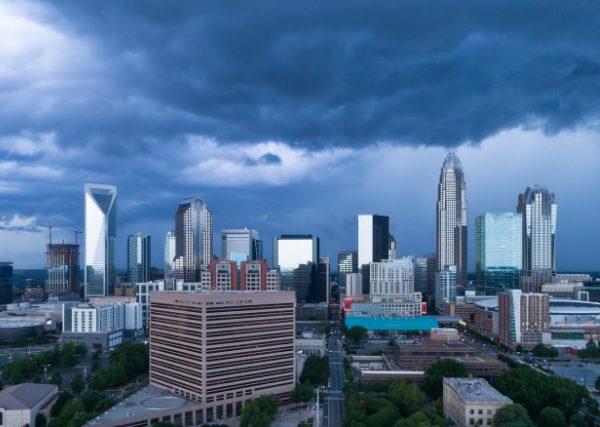 Raining in Charlotte NC