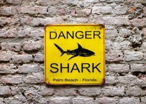 outdoor shark sign