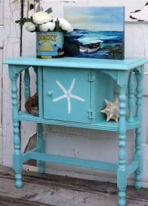 Starfish stencil on furniture