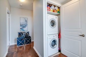 Provide access to a washer and dryer