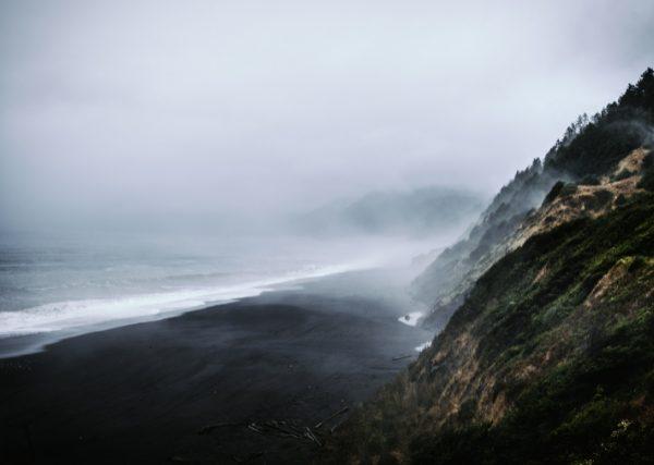 Shelter Cove Black Sand Beach California